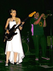 A bride & her bass.