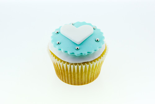 Tiffany & Co Heart Themed Cupcake