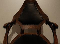 5584 / crafty armchair at the met, nyc (janeland) Tags: newyorkcity brown black leather oak beige chair symmetry armchair craftsman themet metropolitanmuseumofart artsandcrafts bernhardpankok