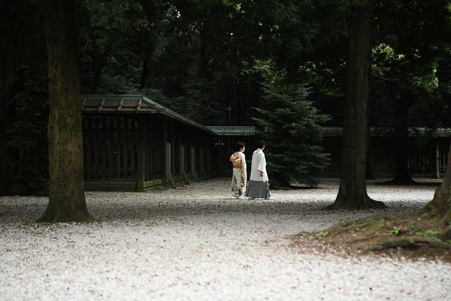 神社の中庭