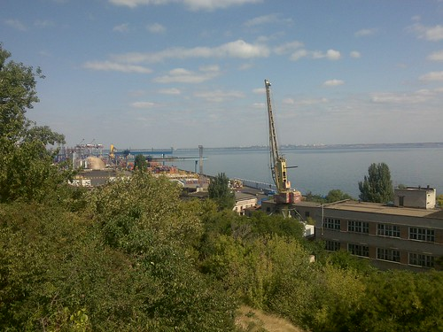 Odessa Port from the War Memorial