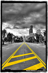 Benjamin Franklin Parkway (f1design) Tags: blackandwhite bw philadelphia blackwhite skyscrapers philly tallbuildings philadelphiapa benjaminfranklinparkway philadelphiapennsylvania f1design philadelphiasklyine