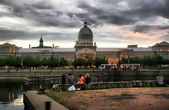 Marche Bonsecours (` Toshio ') Tags: windows friends boy sunset people canada storm building men history water girl rain architecture port river person women couple gallery sitting cloudy market cityhall montreal group stormy basin seawall dome stlawrence marketplace column oldmontreal stlaurent oldtown hdr marchebonsecours toshio houseofparliment mywinners highdynamicresolution basinbonsecours