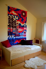 New Bed and Wall Hanging ( r i s) Tags: ikea girl kids modern fun bed bedroom colorful child bright space room marimekko midcentury girlsroom ihmemaa