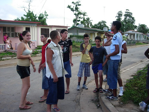 Vinales students taking a break