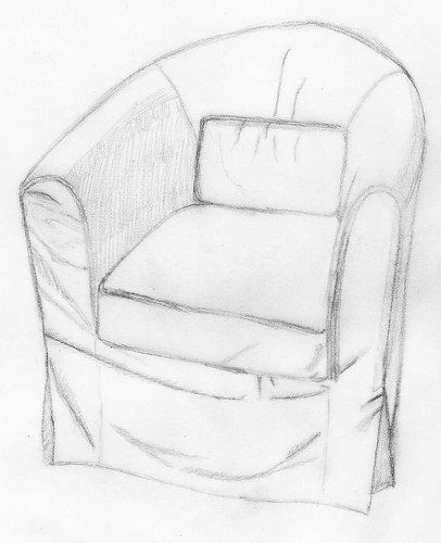Seeing Drawing Living Room Chair September 1 2009