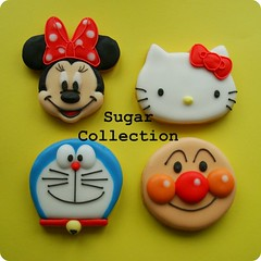character cookies (JILL's Sugar Collection) Tags: food cookies decoration sugar icing piping picnik foodcolor royalicing sugarcraft