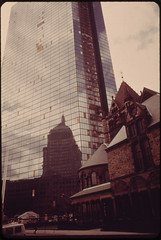 The Old John Hancock Building Is Reflected in the Glass Front of the New John Hancock Building, Boston 04/1973 (The U.S. National Archives) Tags: boston plywood brokenwindows johnhancockbuilding impei environmentalprotectionagency johnhancocktower clarendonstreet clarendonst hancockplace thehancock documerica 200clarendonstreet plywoodpalace impeiandpartners impeipartners usnationalarchives 200clarendonst nara:arcid=549997 historyhappenshere plywoodranch