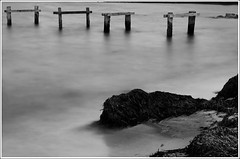 The bathing jetty, or going with the wind (Myndarlegur) Tags: beach danmark ebeltoft denemark bathingjetty ysplixblack
