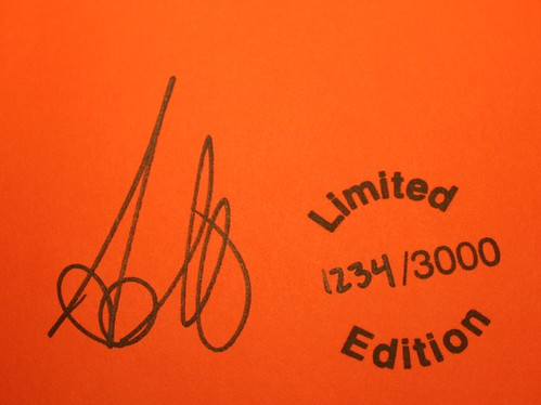 Author Signature and Numbered Stamp