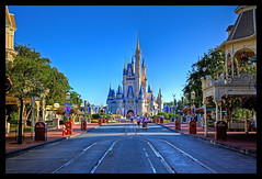 Magic Kingdom - Where Magic Truly Lives (Cory Disbrow) Tags: travel vacation hub photoshop canon morninglight orlando lab florida magic earlymorning disney fl wdw waltdisneyworld tomorrowland magical 2009 canonef2470mmf28lusm hdr highdynamicrange calmbeforethestorm magickingdom fantasyland adventureland waltdisney frontierland libertysquare disneymagic mainstreetusa cs4 lakebuenavista cinderellacastle baylake photomatix reedycreek waltdisneyworldresort tonemapped sevenseaslagoon canoneos5dmarkii worlddrive vacationkingdomoftheworld corydisbrow