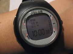 setting the time (lil 1/2 pint) Tags: polar heartratemonitor hrm f6