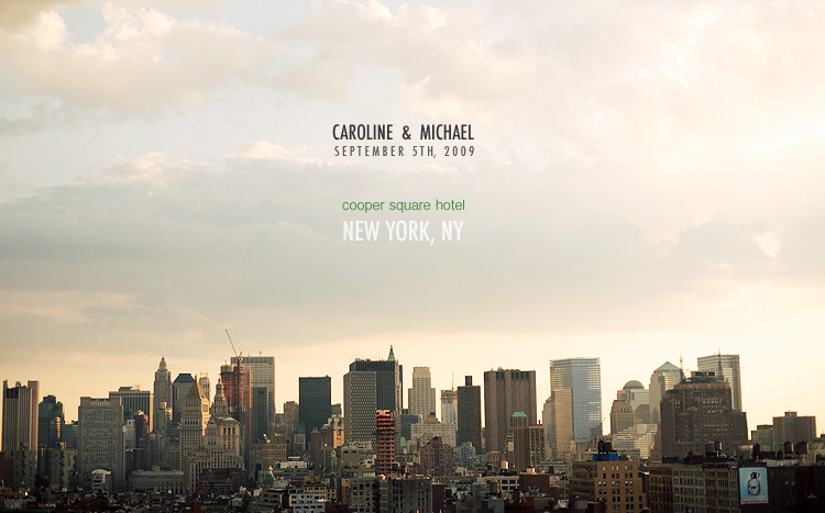 caroline and michael wedding in new york at cooper square hotel
