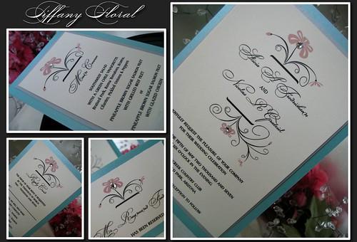 Tiffany Floral Invitation