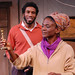 Patrice Johnson (front) as Veronica Jonkers and Nyambi Nyambi as Alfred Witbooi in Coming Home