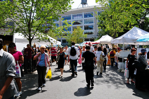 community gathering places like farmers' markets help breed loyalty (by: Ed Yourdon, creative commons license)