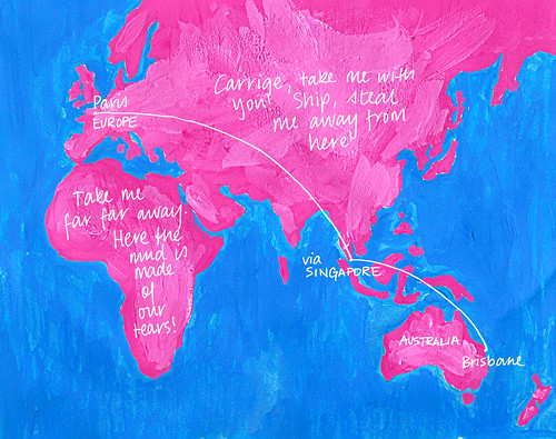 Gouache Travel Map