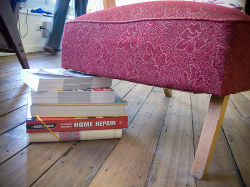 This home repair book sure came in handy for repairing our chair leg