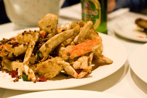 Crab in hot spicy sauce