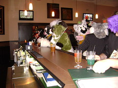 Fursuiters at the bar