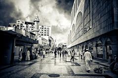 Gabil Street (Khaled A.K) Tags: blackandwhite white black monochrome mono sa jeddah balad saudiarabia khaled ksa saudia oldarea jiddah kashkari gabilstreet