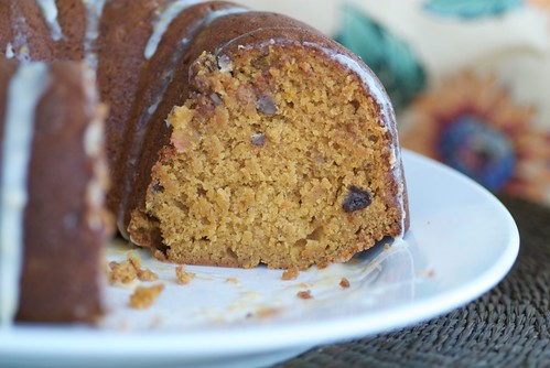 Spiced Sweet Potato, Cranberry, and Pecan Cake with Orange-Cinnamon Glaze  DSC_0348