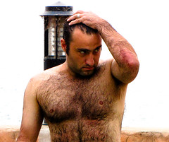 Babak, looking all hunky