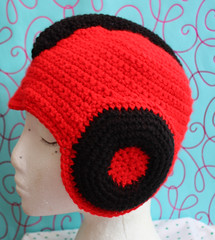 Space Cadets Helmet - Red and Black (by tallybates)