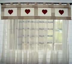 Cortina Romantica (annakarawajczyykpatchwork) Tags: patchwork quilt cortina aplicao banda coraesvoal