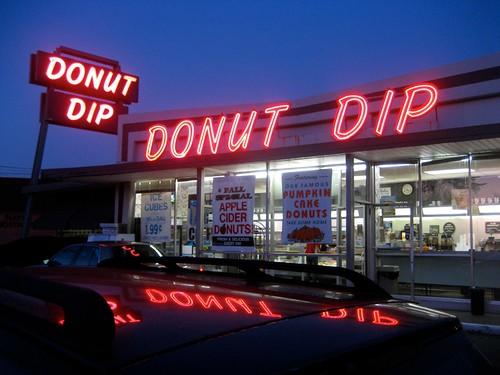 Donut Dip West Springfield MA Neon