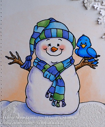 Whimsy snowman close