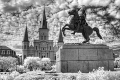 Jackson Square, New Orleans (Shawn O'Connell Photography) Tags: blackandwhite bw ir nikon louisiana no neworleans d70s jackson infrared jacksonsquare