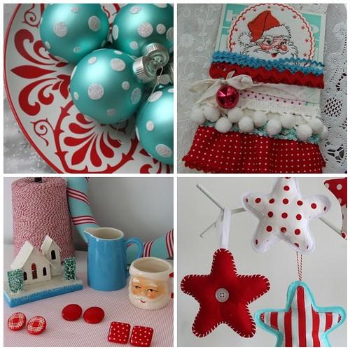Red & Aqua Christmas