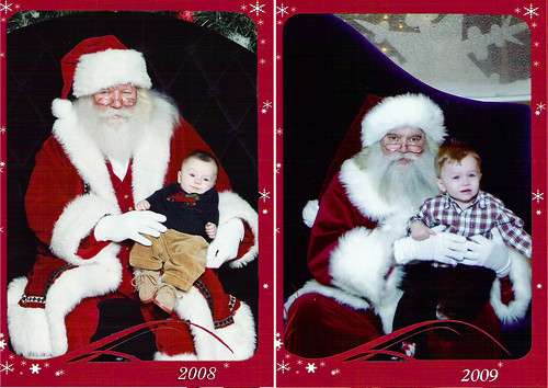 santa before and after