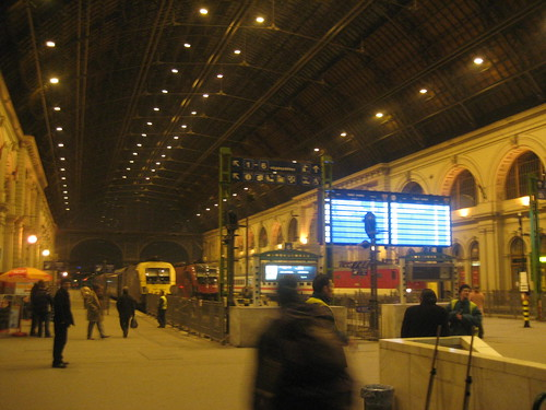 At Keleti Pályaudvar Train Station