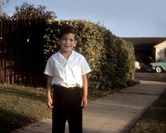 1959-Rob in sidewalk, sharpen crop (Robert Blumberg) Tags: berman blumberg