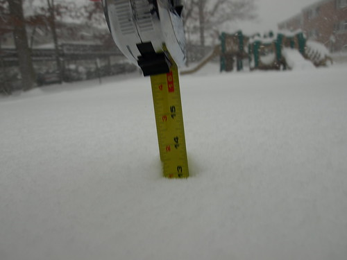 Second measurement of the snowpocalypse - 13 inches
