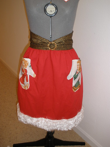 Santa Baby Apron for MIndy, Flirty Apron Swap