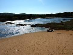Etangs salés de Saline Soprane peu après le départ du port de Figari Est