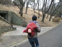 アクロバティックな肩車