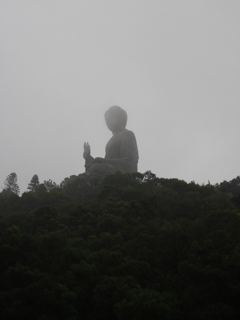 First glimpse of the Ngong Ping Big Buddha