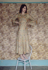 Sarah (MrGlen) Tags: wallpaper portrait woman beauty fashion sarah vintage hair model dress dancer oldhouse