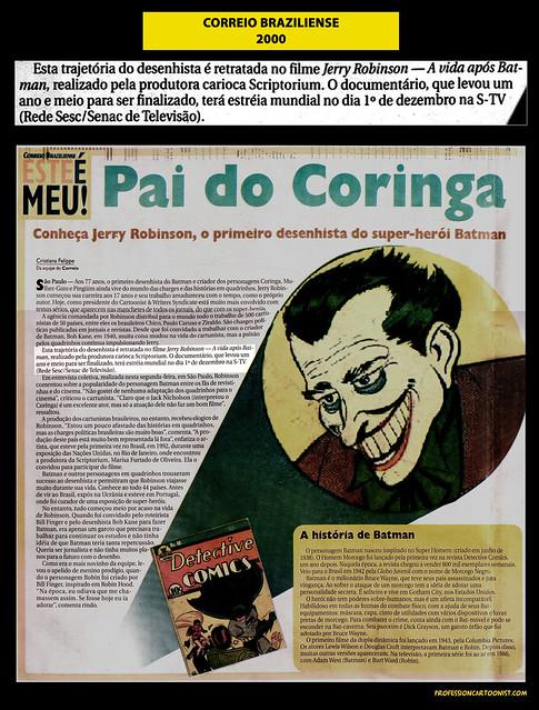 """""""Pai do Coringa"""" - Correio Braziliense - 2000"""