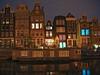 Houses at dusk, Amsterdam