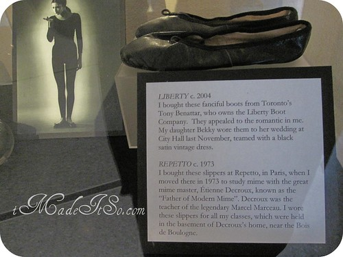 Yes really jeanne beker's pantomime shoes and a photo of her in