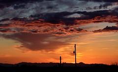 Beautiful Arizona Sunset (vickibeen) Tags: sunsetlandscape mesa manycolors colorfulsky skies cloudy silhouettes rurallandscape arizona sunsets