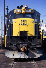 Full Frontal (GRNDMND) Tags: trains railroads santafe atsf locomotive ge u36c redondojct los angeles california