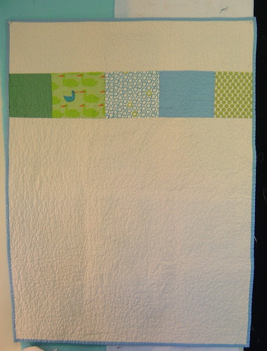 Boy Baby Quilt - Back