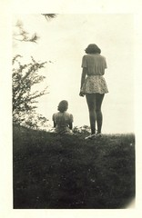 Mum - would have been 85 today. (elinor04) Tags: fashion vintage photo back friend hungary top hill mother style 1940s summerholiday younggirls vintageteens vintagefamilyphotocollection elinorsvintagefamilyphotocollection hungariancollection