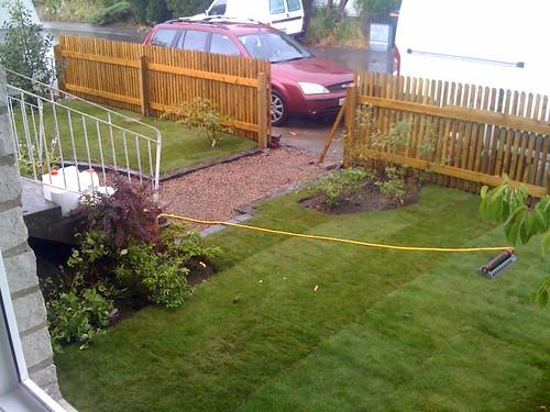 Färdig gräsmatta på rulle är just det - färdig!